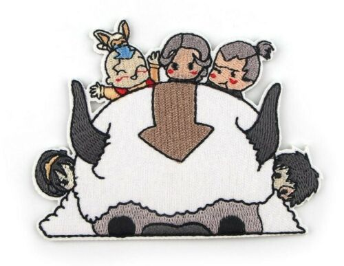Avatar The Last Airbender Characters 4 Inches Wide Embroidered Iron On Patch