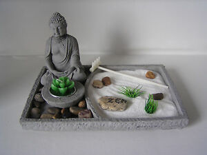 deko set zen garten buddha feng shui dekoration teelichter figur deko ebay. Black Bedroom Furniture Sets. Home Design Ideas