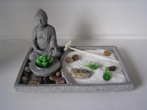 """Deko Set """"Zen-Garten"""", Buddha, Feng Shui Dekoration, Teelichter, Figur, Deko"""