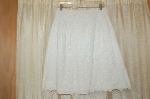 Cotton White Eyelet Size Eyelet Skirt White 6 Size 6 Pulitzer Cotton Skirt Lilly Lilly Pulitzer q4C5EHw
