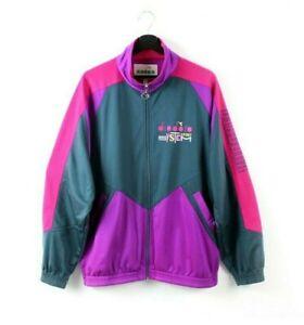 90s Diadora Sport System vintage track jacket rad purple windbreaker tracksuit