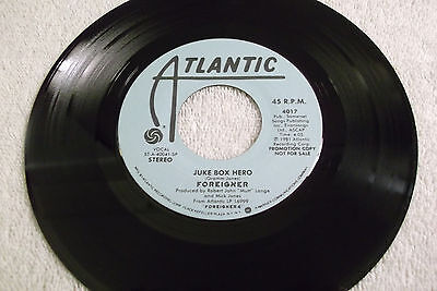 FOREIGNER - Juke Box Hero / Juke Box Hero - 45 ATLANTIC Promo - 1981 Rock
