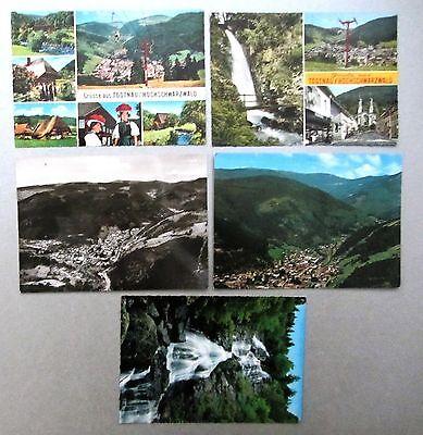 5x Todtnau Schwarzwald Ak Baden-würtemberg Ak Lot Ungebrauchte Postkarten