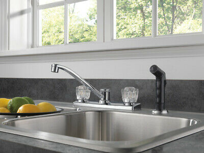 Kitchen Faucet With Spray Peerless Was22x Handle Chrome Centerset For Sale Online Ebay