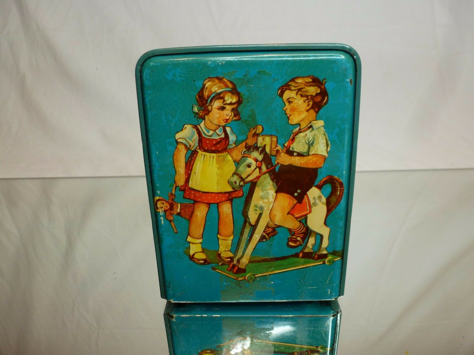 VINTAGE TIN TOY  GEOBRA  GERMANY MONEY BOX -  H11.0cm RARE - GOOD CONDITION