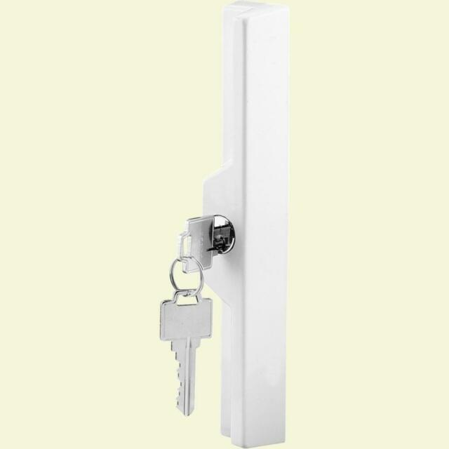 Prime-Line Products C 1254 Sliding Door Outside Pull with Key White