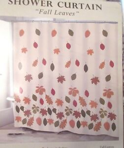 Image Is Loading Avanti FALL LEAVES Shower Curtain Fabric Cottage Chic