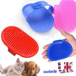 Pet-Dog-Cat-Bath-Brush-Comb-Rubber-Glove-Hair-Fur-Grooming-Massaging-Massage-Mit