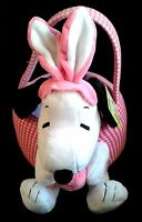 Musical Peanuts Pink Check Removable Easter Basket By Dandee International