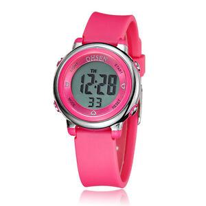 OHSEN-Children-Girls-Rose-Red-12-24-Hours-Digit-5-Mode-Light-Quartz-Wrist-Watch