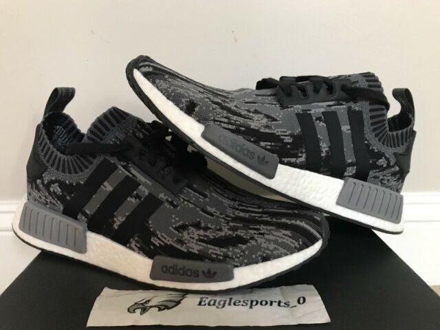 707fd0161d4cc adidas NMD R1 PK Primeknit Glitch Core Black Grey Three VNDS Sz 11 ...