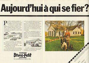 Publicite 1980 Double Page Maisons Bruno Petit Constructeurs Ebay