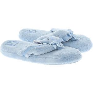 BEDROOM-ATHLETICS-Pantoufles-Bleu-Poudre-tongs-style-avec-un-n-ud-taille-UK-7-NEUF