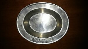 Antique-museum-Repro-1768-engraved-PEWTER-034-95-LT-NORGE-W-034-Oblong-Bowl-Norwegian
