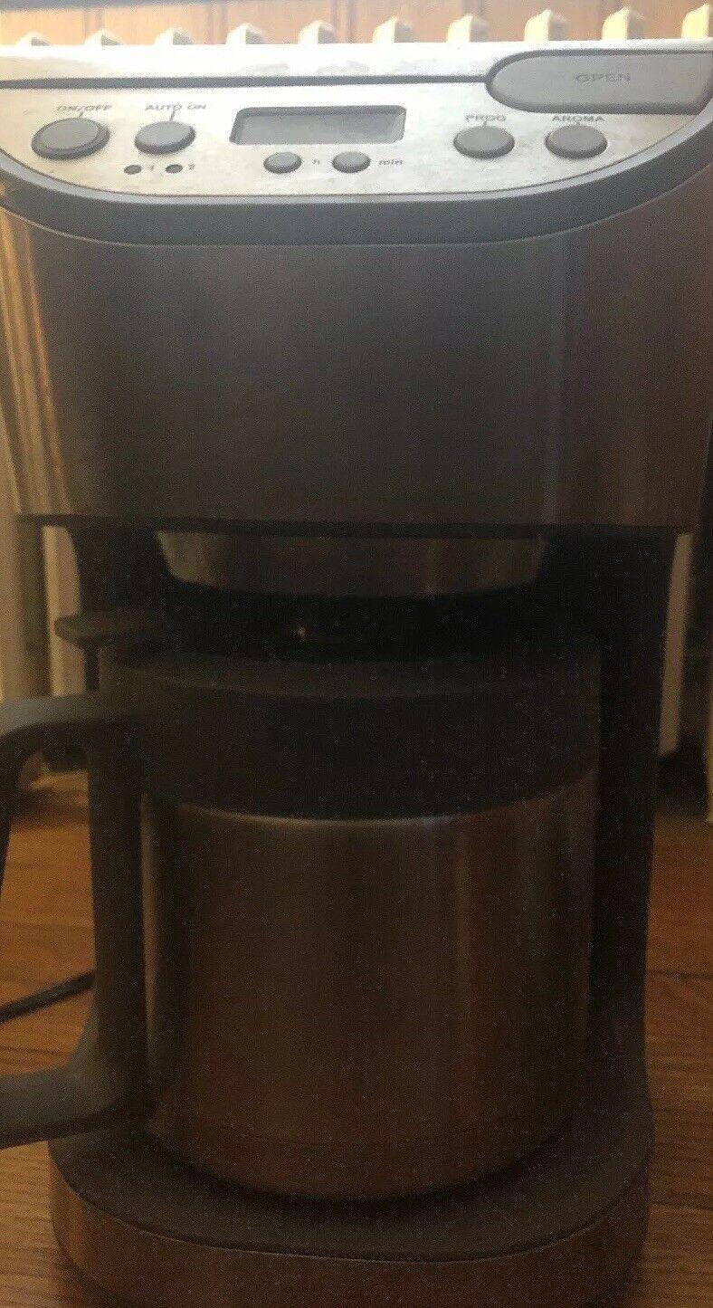 Krups KT406 10-Cup en acier inoxydable Cafetière utilisé testé fonctionne encore Grande