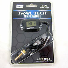 Trail Tech TTO Temperature Meter Black Digital Gauge M6x1.0 Screw Sensor 742-ES1