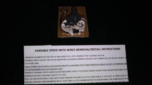 con i fili 5000 NUOVI Super Duty Potenziometro Interruttore velocità variabile si adatta Vitamix