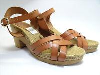 Brooklyn Cuero Tan Womens Shoes - John Lewis - Size 8 - 20,000+ Feedback Sh28