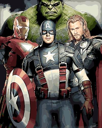 The Avengers Portrait HP Design Needlepoint Canvas #424