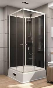schulte expressplus wellnesskabine korfu ii schwarz mit boiler und pumpe dusche ebay. Black Bedroom Furniture Sets. Home Design Ideas