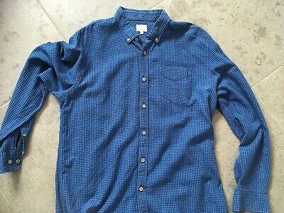 blue checked mens shirt large matalan  good condition  ebay