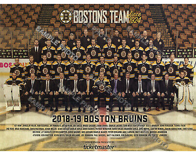 2018-2019 BOSTON BRUINS EASTERN CONFERENCE CHAMPS STANLEY ... Bruins Roster