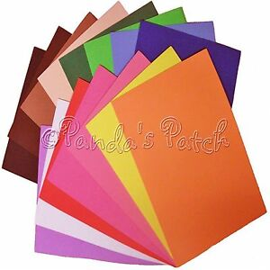 A4 Funky Foam Sheets Kids Children Craft Multi Colours /& Size Packs