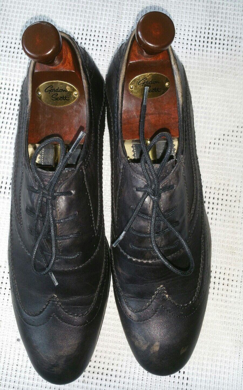 Top Schnürschuhe,Hudson London  H.London Halbschuhe Gr.40 licht schwarz