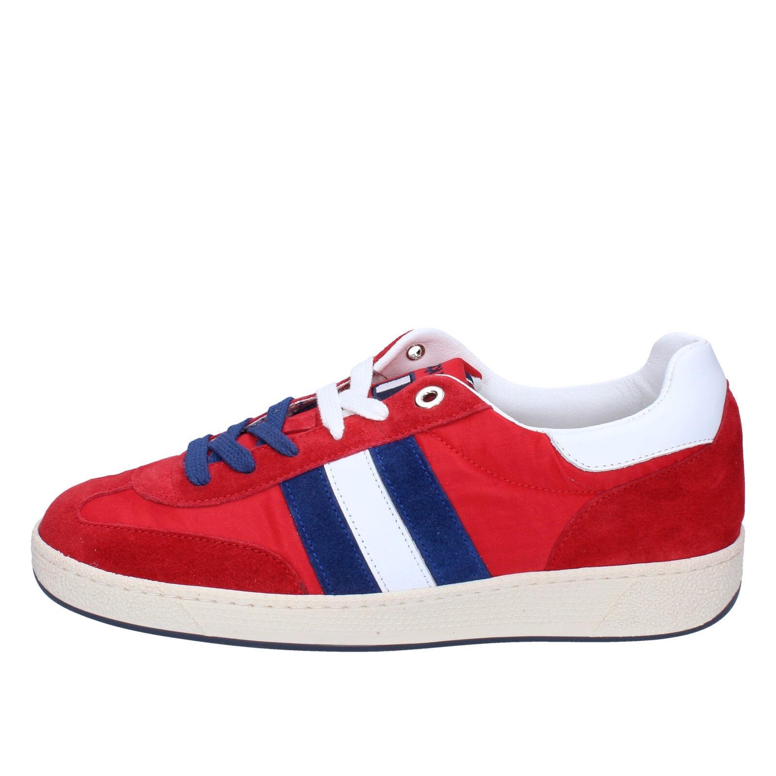 uomo D' ACQUASPARTA 42 EU scarpe da ginnastica rosso camoscio tessuto AB907-D