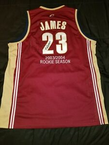 wholesale dealer 489cf 80111 Details about LeBron James Cleveland Cavaliers Cavs NBA Rookie 2003-04  Embroidered Jersey