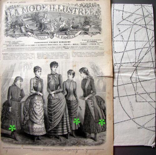 n° 15//1884 Voir modèles à réaliser LA MODE ILLUSTREE FRENCH PATTERN PATRON