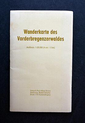 Wanderkarte Des Vorderbregenzerwaldes 1:25.000 - Zeichnung: Rudolf Schertler 100% Garantie