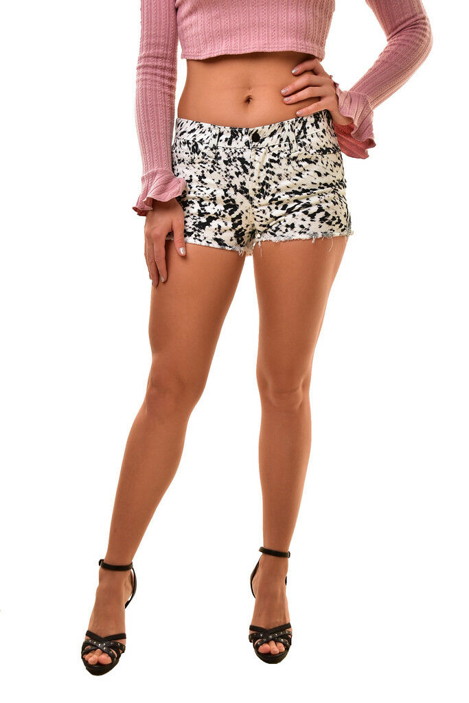 J BRAND Women's Denim SR9033T142 Low Rise Mini Shorts White Size 24  165 BCF811