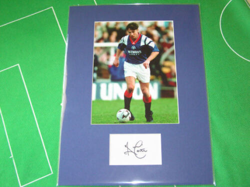 Rangers Ally McCoist Signed Press Photograph Mount
