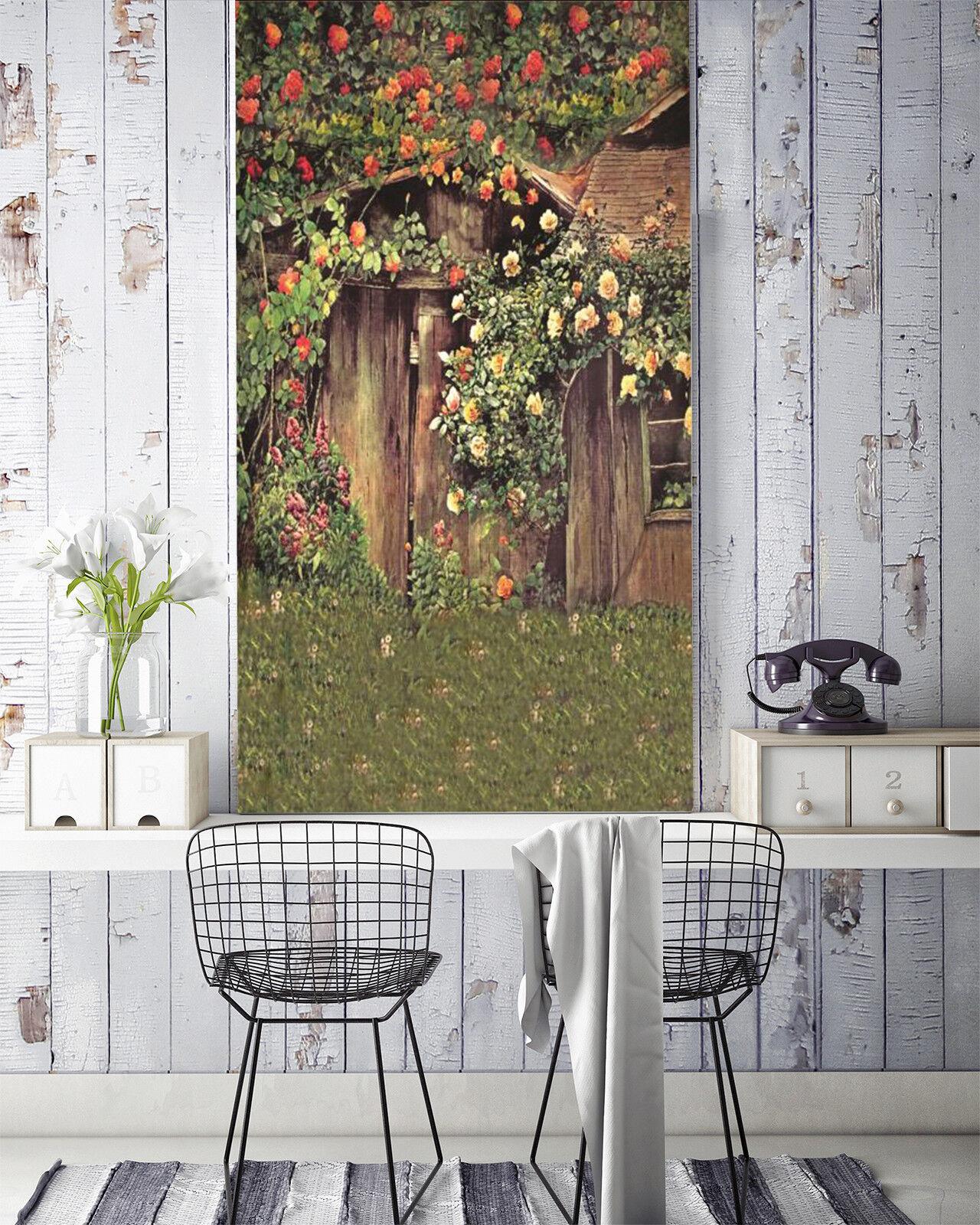 3D Hütte blueme 896 Tapete Wandgemälde Tapete Tapeten Bild Familie DE Lemon
