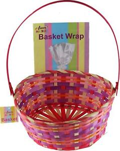 Make-Your-Own-Hamper-Large-Wicker-Gift-Basket-Gift-Wrap-And-Ribbon-Set
