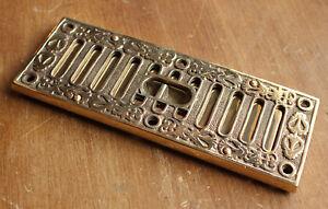 22.9cm X 7.6cm Laiton Massif Ouverture Fermeture Bouche D'Aération Victorien oHer6Dfu-07195921-808348653