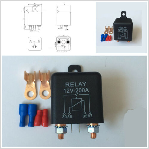 Car Truck High Power Relay 12V 200A Battery Switch for Automotive Starter Switch
