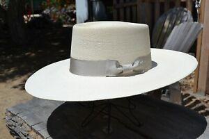 Atwood-Hat-Co-7X-Buckaroo-Vaquero-Cowboy-Hat-4-5-034-Brim-with-Silverbelly-Band