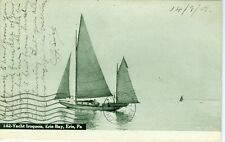 Erie PA The Yacht Iroquois on Erie Bay 1908