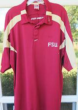 Nike Team Fit Dry FSU Florida State Seminoles Coaches Football Polo Shirt Large