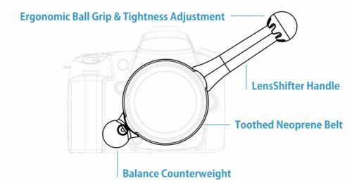 fotografía sin espejo Lensshifter Pro Rojo enfoque de seguimiento /& Zoom para DSLR video