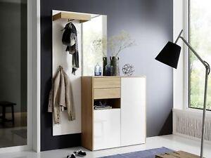 Mca garderoben set marlisa 1 wei eiche dielenm bel modern ebay - Dielenmobel modern ...