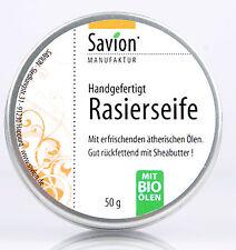 SAVION fino jabón de afeitar en Caja 50g natural shaving vegan 11,20€/100g