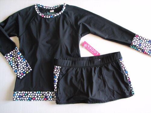 NWT Anne Cole Locker Petal Power SUP Swim Surf Suit Long Sleeve UPF Rash Tini  L