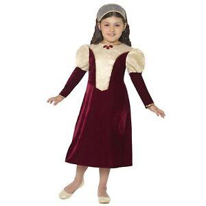 infantil-HISTORICO-Tudor-Damsel-Princesa-Medieval-Disfraz-de-Semana-Del-Libro