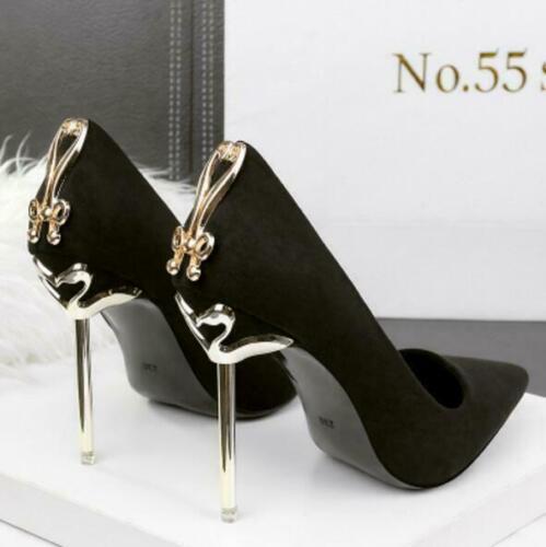 Women/'s High Heels Stilettos Bout Pointu Noeud Lacet Fashion Chaussures Escarpins Neuf