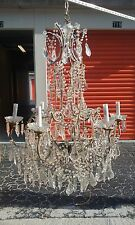 1960's vintage Italian imported crystal chandelier