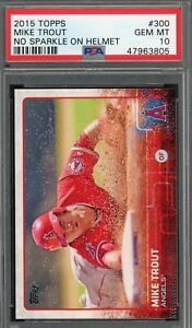 Mike Trout Los Angeles Angels 2015 Topps Baseball Card #300 PSA 10 GEM MINT