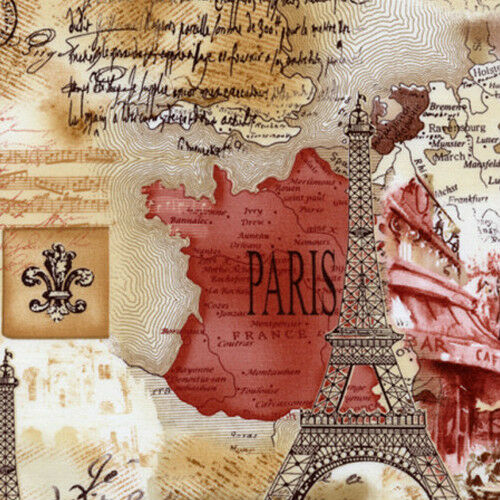 Fabric Bty Collection On EBay - Paris map fabric